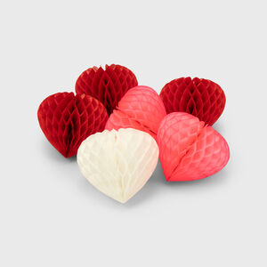 Honeycomb Heart Paper Decoration Set