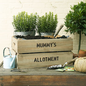 Personalised Grow Your Own Allotment Gardening Gift - gardener
