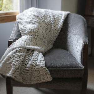 Supersoft Two Tone Throw - throws, blankets & fabric