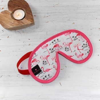 Flamingo Print Eye Mask Plain Or Personalised