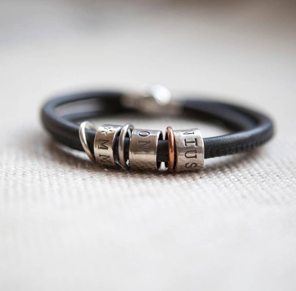 Black Na Leather Story Bracelet