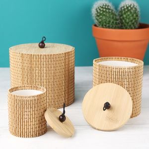 Set Of Three Bamboo Storage Boxes - storage