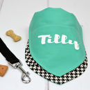 Personalised Dog Bandana Houndstooth And Turquoise