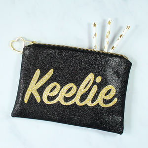 Personalised Name Glitter Clutch Bag - gifts for teenagers