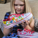 Positive Hearts Colour In Children's Shoes