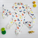Organic Cotton Jungle Sleepsuit Set