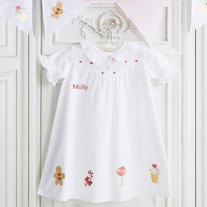 Girl's Gingerbread Cotton Dress