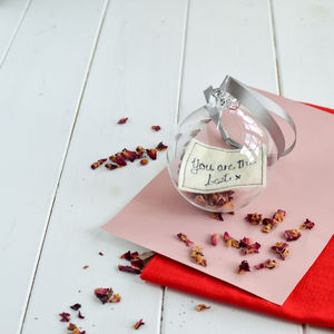 Wedding Favour Keepsake Bauble For Mum