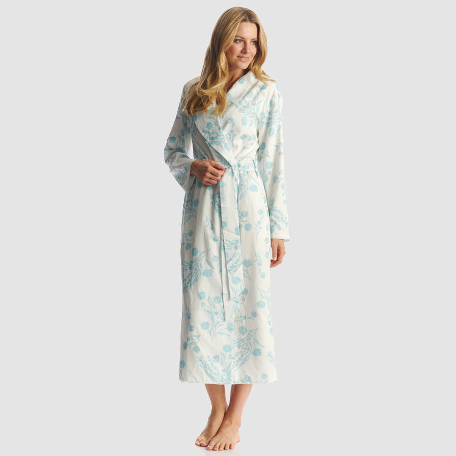 womens floral print dressing gown by pj pan | notonthehighstreet.com