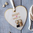 Personalised Naming Day, Christening Or Baptism Heart