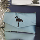 Flamingo Glitter Clutch Choose Your Colours