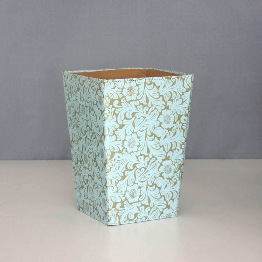 Recycled Gold Fl Waste Paper Bin Large
