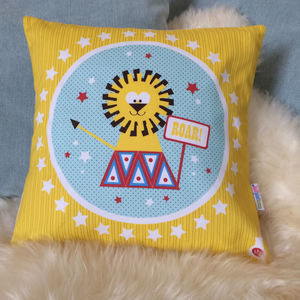 Children's Circus Lion Cushion - what's new