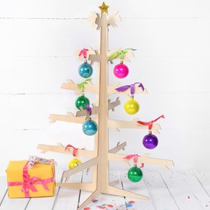 Flat Packed Wooden Christmas Tree - christmas trees
