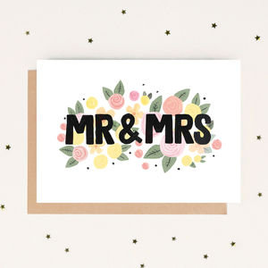 Mr And Mrs Wedding Card - wedding cards & wrap