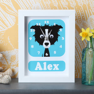 Personalised Framed Dog Clocks - gifts for children