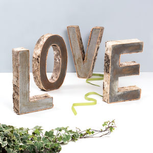 birch bark letters outdoor decorations