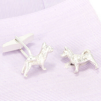 Akita Cufflinks In Sterling Silver