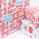Personalised Letterpress Style Wrapping Paper
