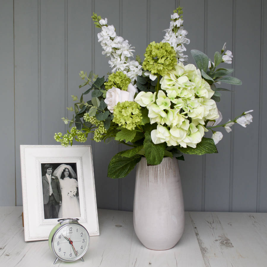 Contemporary Hand Tied Faux Flower Bouquet By Hannah Halfpennie