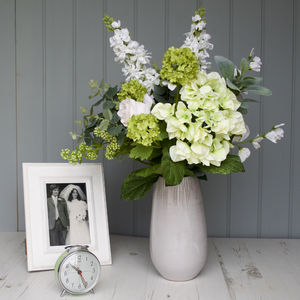Contemporary Hand Tied Faux Flower Bouquet - flowers, plants & vases