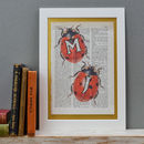 Ladybird Letter print two mounted