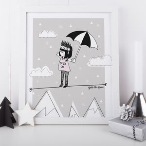 Bella The Brave Kids Print