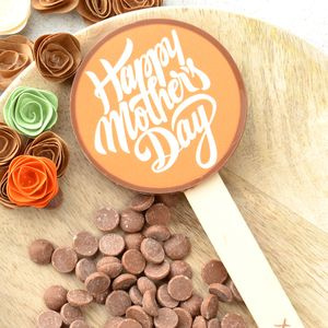 'Happy Mother's Day' Belgian Chocolate Lolly