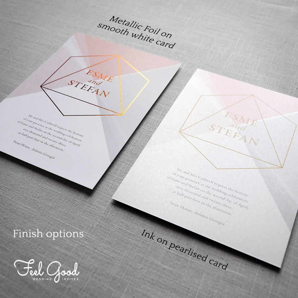 prism geometric wedding invitation by feel good wedding ...