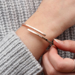 Personalised 18ct Gold Or Sterling Silver Open Bangle