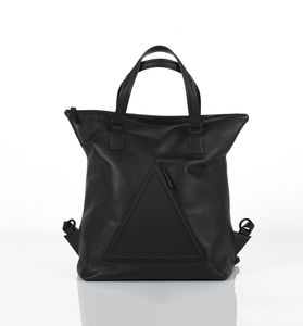 Hoxton Black Unisex Leather Travel Backpack - backpacks