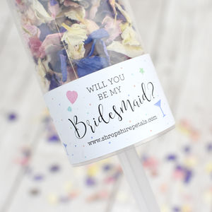Will You Be My Bridesmaid Confetti Pop