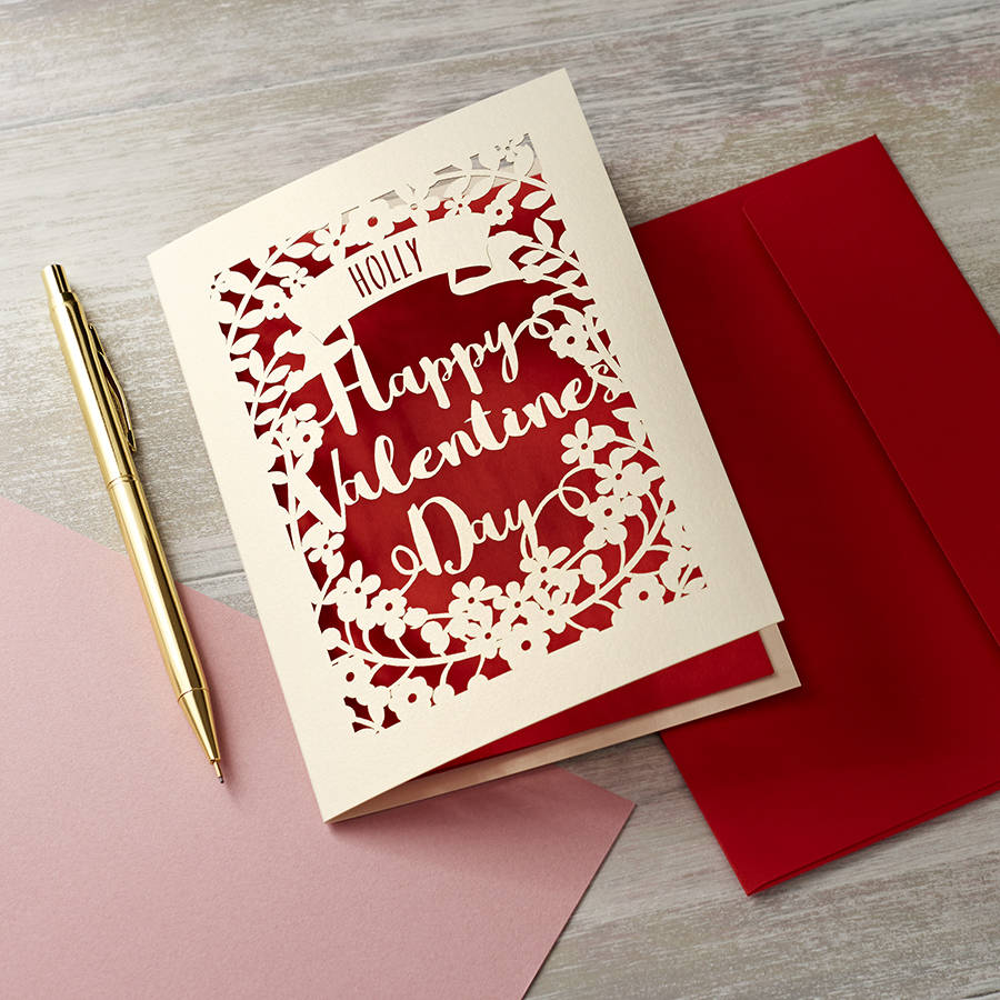 personalised papercut valentines card by pogofandango – Original Valentines Cards