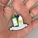 'You Complete Me' Gin Keyring