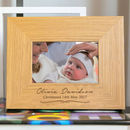 Personalised Baby Girl Christening Photo Frame