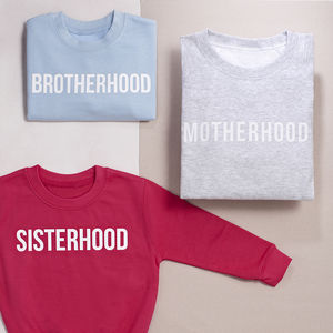 'Mum And Me' Motherhood Kidhood Sweatshirt Jumper Set