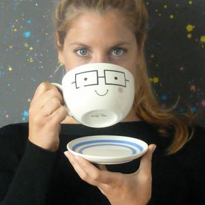 Geeky Tea Cup And Saucer