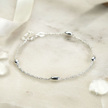 Sterling Silver Dew Drop Bracelet