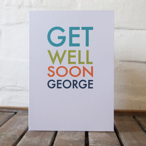 Personalised Get Well Soon Card - get well soon cards