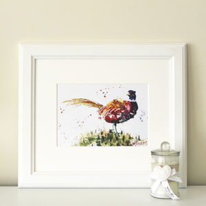 Pheasant Print - canvas prints & art