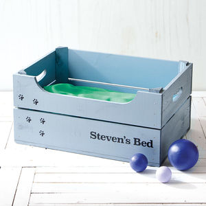 Personalised Crate Pet Bed - beds & sleeping