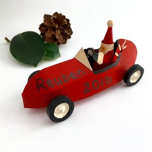 Santa Decoration Personalised - tree decorations