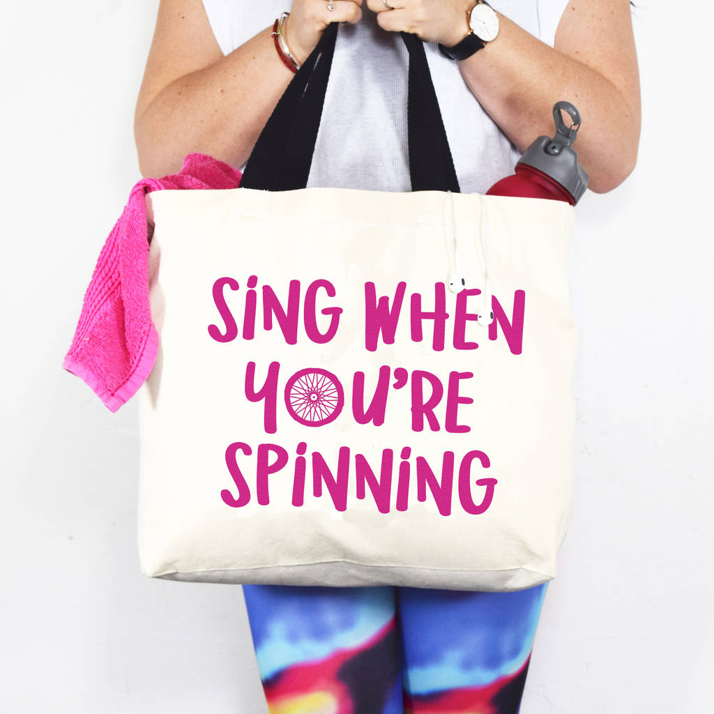 'Sing When You're Spinning' Gym Bag