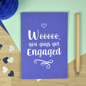 Gay Engagement Card - engagement cards