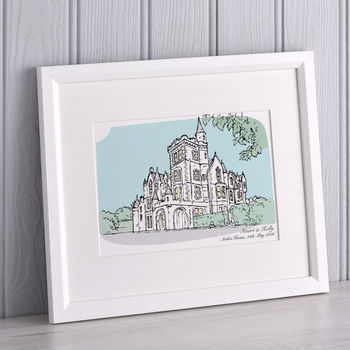 Notonthehighstreet.com - Wedding presents, Personalised Wedding Venue Portrait