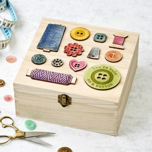 Personalised Sewing Bee Storage Box Birthday Gift - mum loves