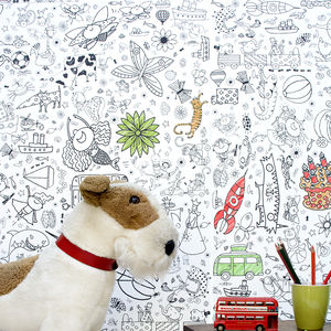 Personalised Colour In Wallpaper Teatime - children's room