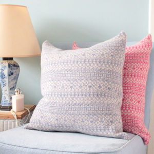 Cozy Fair Isle Square Cushion