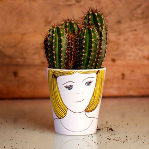 Personalised Girl's Head Plant Pot