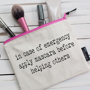 'Mascara…' Pouch - health & beauty sale